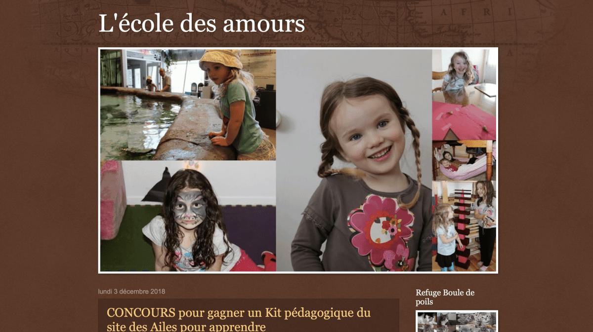 L'école des amours, blog d'une famille canadienne qui pratique l'IEF Montessori
