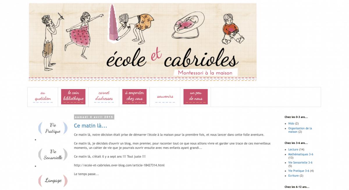 Blog Ecole et cabrioles