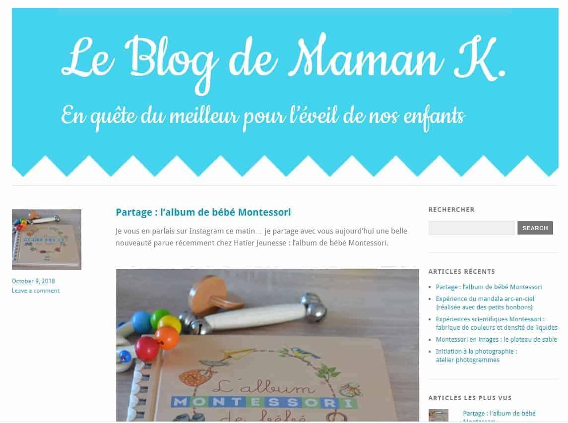 Le blog de Maman K., blog Montessori