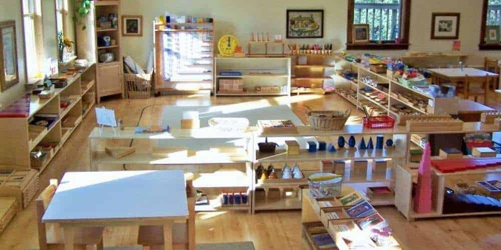 Environnement d'une classe Montessori