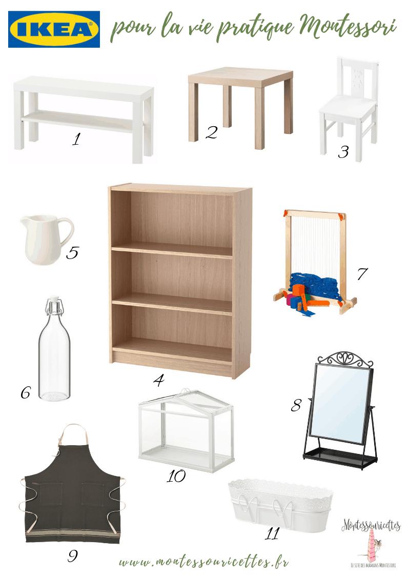 Ikea pour la vie pratique Montessori
