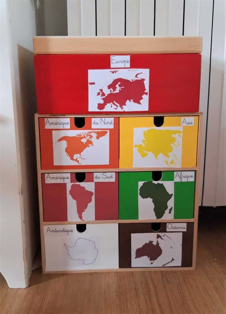 Les boîtes des continents