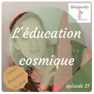 L'éducation cosmique - activité Montessori pour les 6 -12 ans