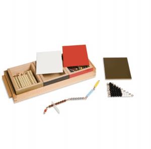 Matériel de calcul : barrettes de perles colorées Montessori