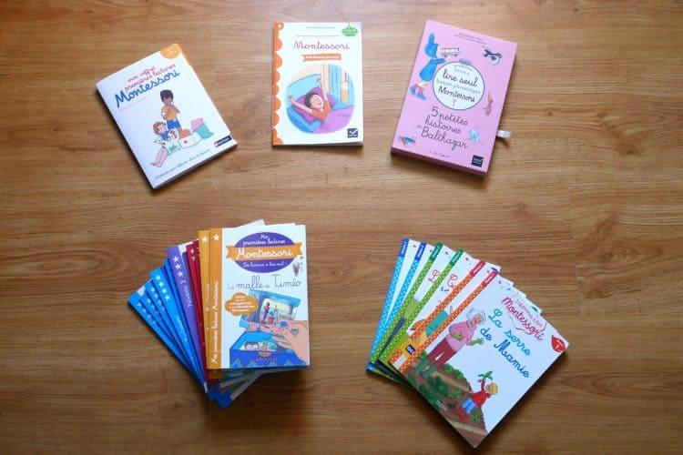Comparatif des livres de premières lectures Montessori