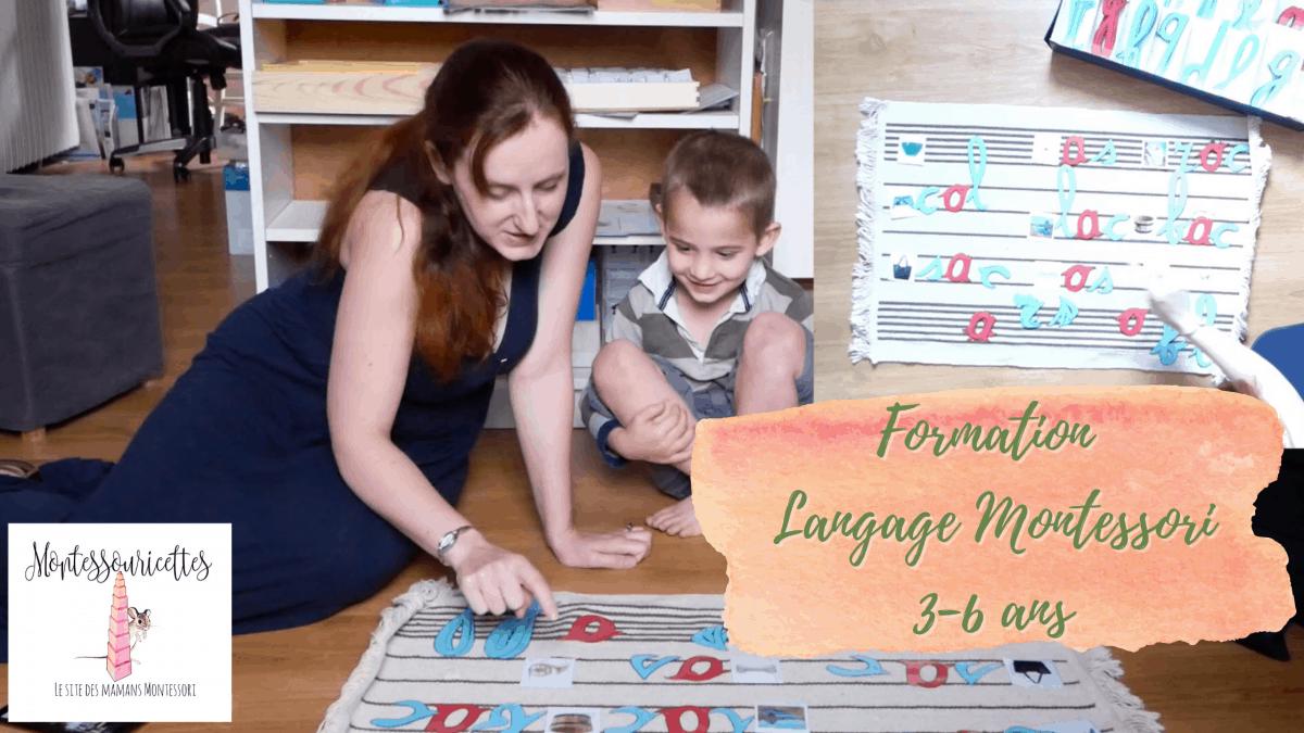 Formation langage Montessori, comment apprendre à lire à son enfant.